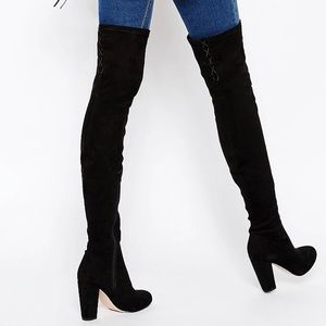 ASOS Over-the-Knee Suede Boots